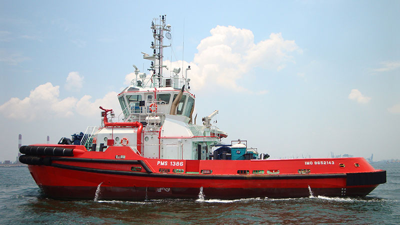 PMS 1386 – The first of two RAstar 3200 tugs built by PM Coast