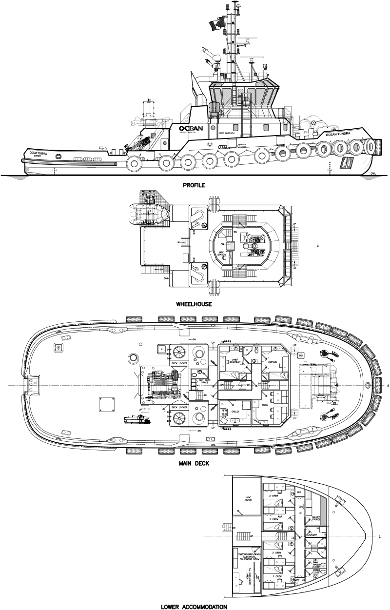 Ocean Tundra Canadas Most Powerful Tug Enters Service Robert 2014 Engine Diagram For More Information On This Or Any Of The Series Icebreaking Tugs Offered By Allan Ltd Please Contact Design