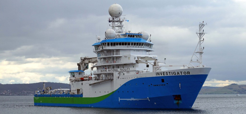 CSIRO Science Vessel (Australia) - RV Investigator (photo by Keith Edney)