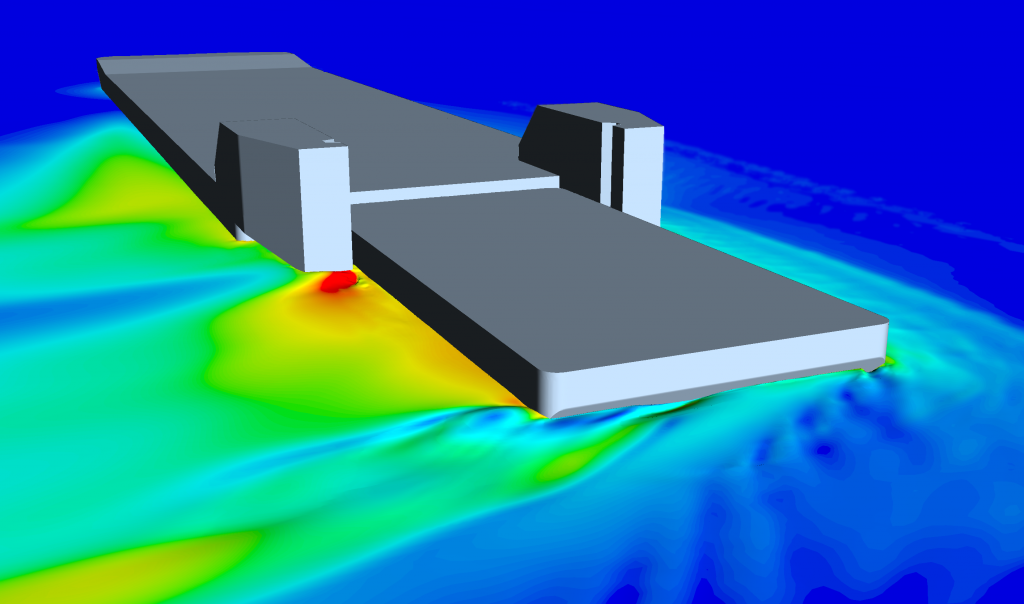 Turning circle simulation in CFD