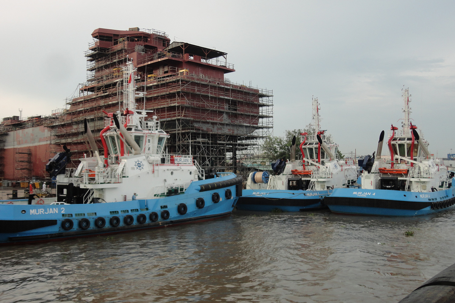 A Quadruple Delivery of RAstar 3400 Terminal Support/Escort Tugs for