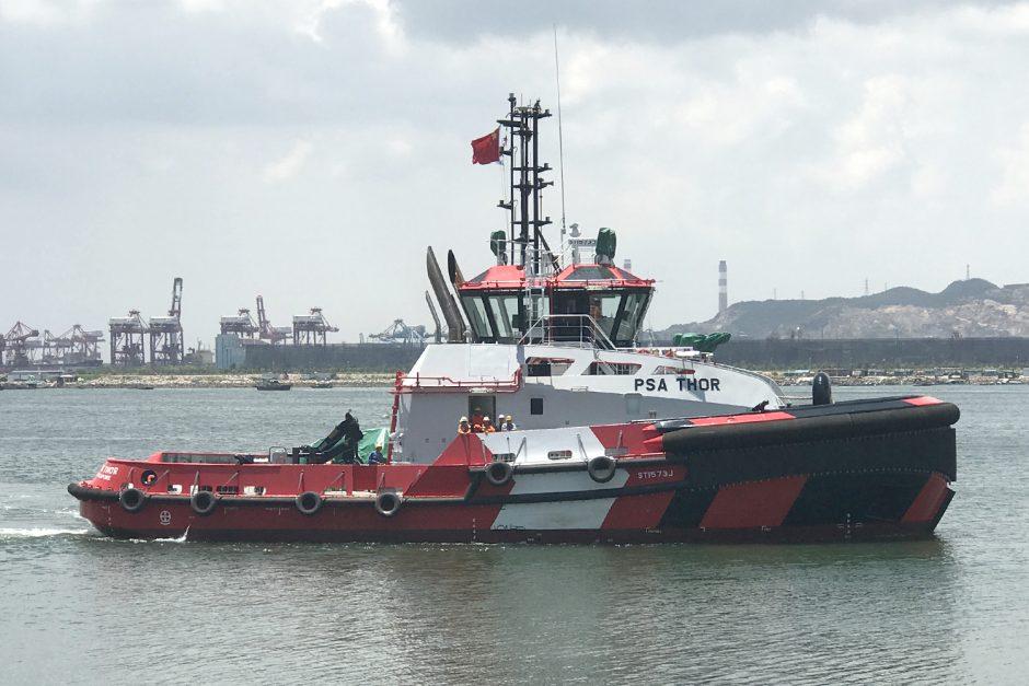 PSA Marine Takes Delivery of Two New Superhero Tugs - Robert Allan Ltd