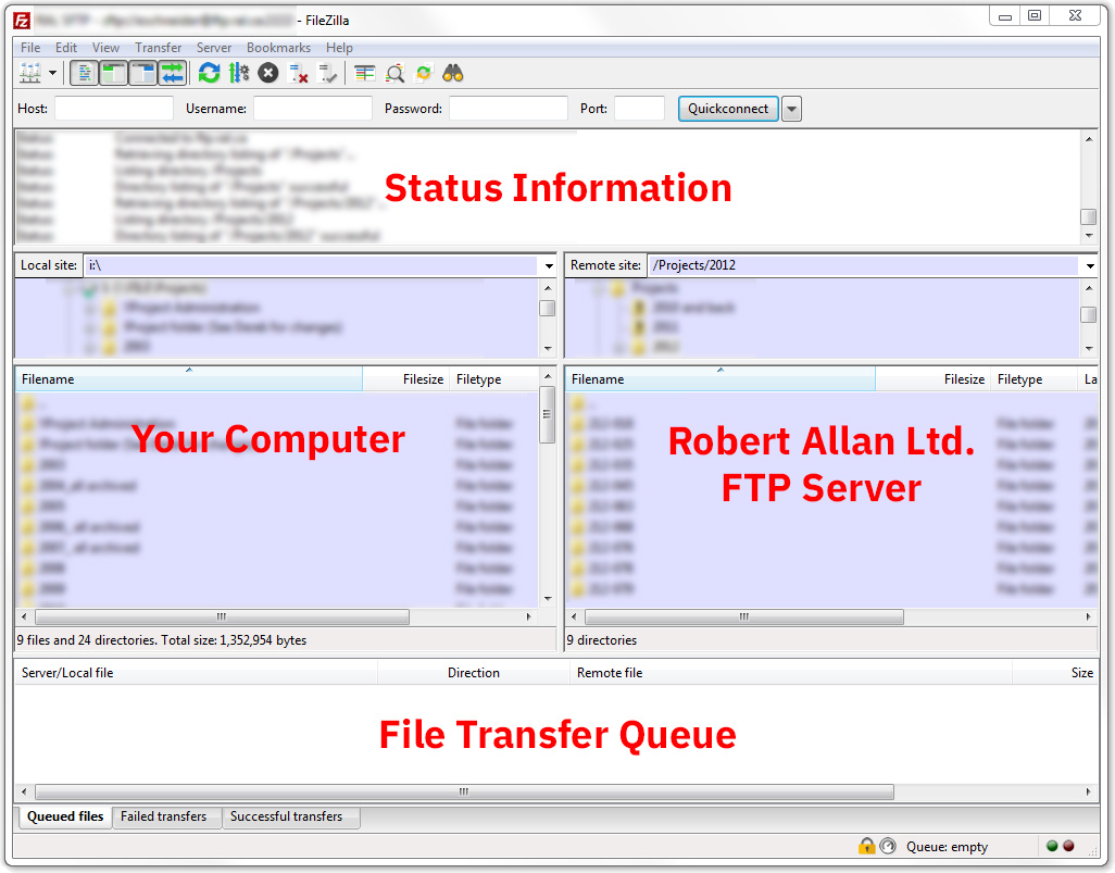 How to Use the FTP Server - Robert Allan Ltd