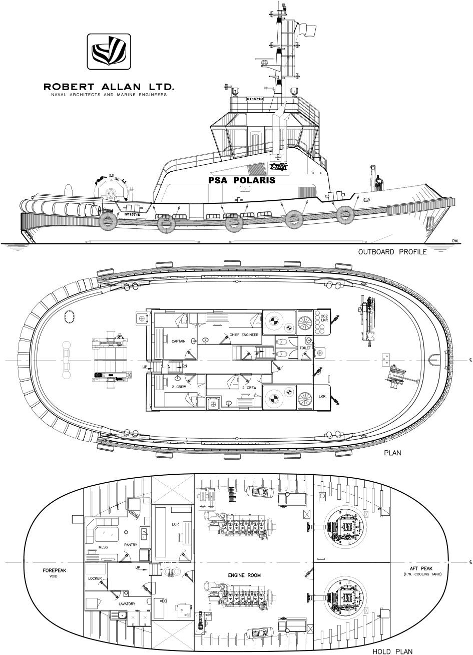 Z-Tech® 5000 Port/Terminal Ship-handling Tugs PSA Polaris & PSA